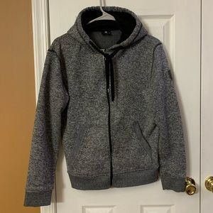 Men's South Pole Gray Zippered Hoodie. Small.